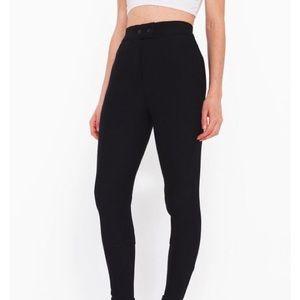 American apparel black Riding Pants